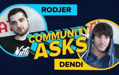Community asks #2: Dendi & RodjER