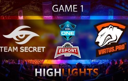 Team Secret vs Virtus.pro Game 1 ESL One Final Highlights 28.10.2017 Dota 2