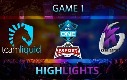 Team Liquid vs Keen Gaming (Game 1) Major ESL Highlights 28.10.2017 Dota 2