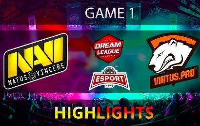 Na'Vi vs Virtus.pro DreamLeague Season 8 Game 1 DOTA2 Highlights