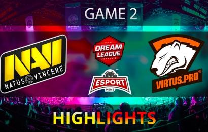 Na'Vi vs Virtus.pro DreamLeague Season 8 Game 2 DOTA2 Highlights