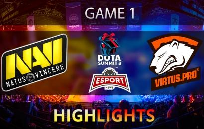Dota 2: Na'Vi vs Virtus.Pro | The Summit 8 | CIS | Game 1 | Grand-final | Highlights | 14.11.2017