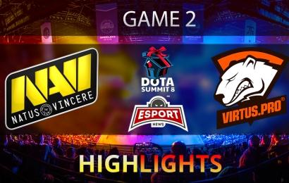 Dota 2: Na'Vi vs Virtus.Pro | The Summit 8 | CIS | Game 2 | Grand-final | Highlights | 14.11.2017