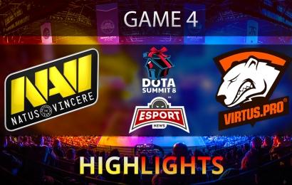 Dota 2: Na'Vi vs Virtus.Pro | The Summit 8 | CIS | Game 4 | Grand-final | Highlights | 14.11.2017