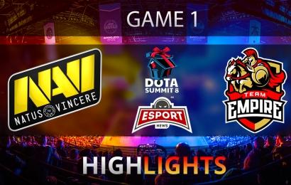 Dota 2: Na`Vi vs Empire The Summit Season 8 | CIS | Game 1 | Highlights | 13.11.2017