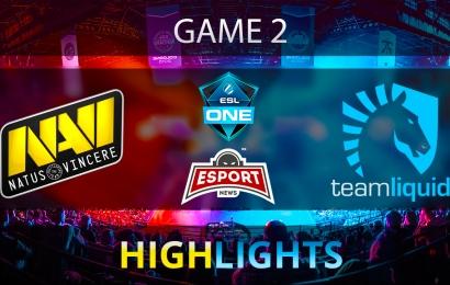 Dota 2: Na'Vi vs Team Liquid   ESL One Genting 2018   Semifinal   Game 2   Highlights   24.01.2018