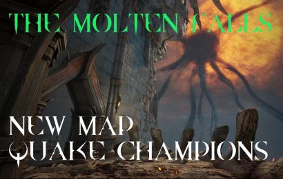 "Quake Champions - NEW MAP Molten Falls (Pre-Release ""alpha"" Footage)"