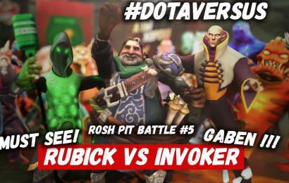 Rosh Pit Battle: Rubick vs Invoker