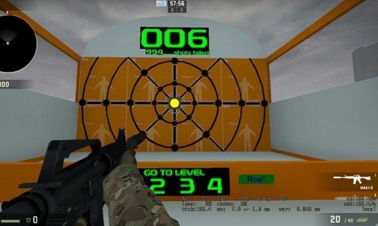стрельба CS:GO, прицел CS:GO