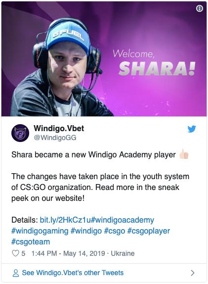 Shara в Windigo Academy