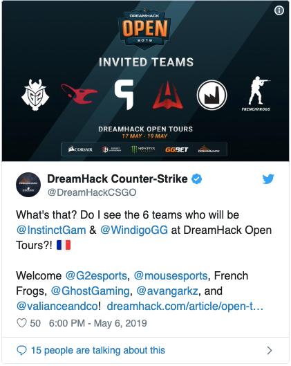 участники DreamHack Open Tours 2019