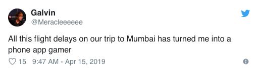 проблемы ESL One Mumbai, Jet Airways
