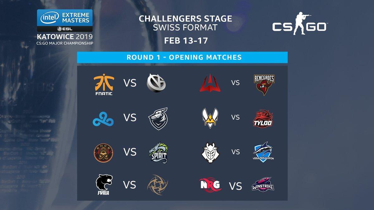 IEM Katowice 2019, Challenge Stage Major, cs go major